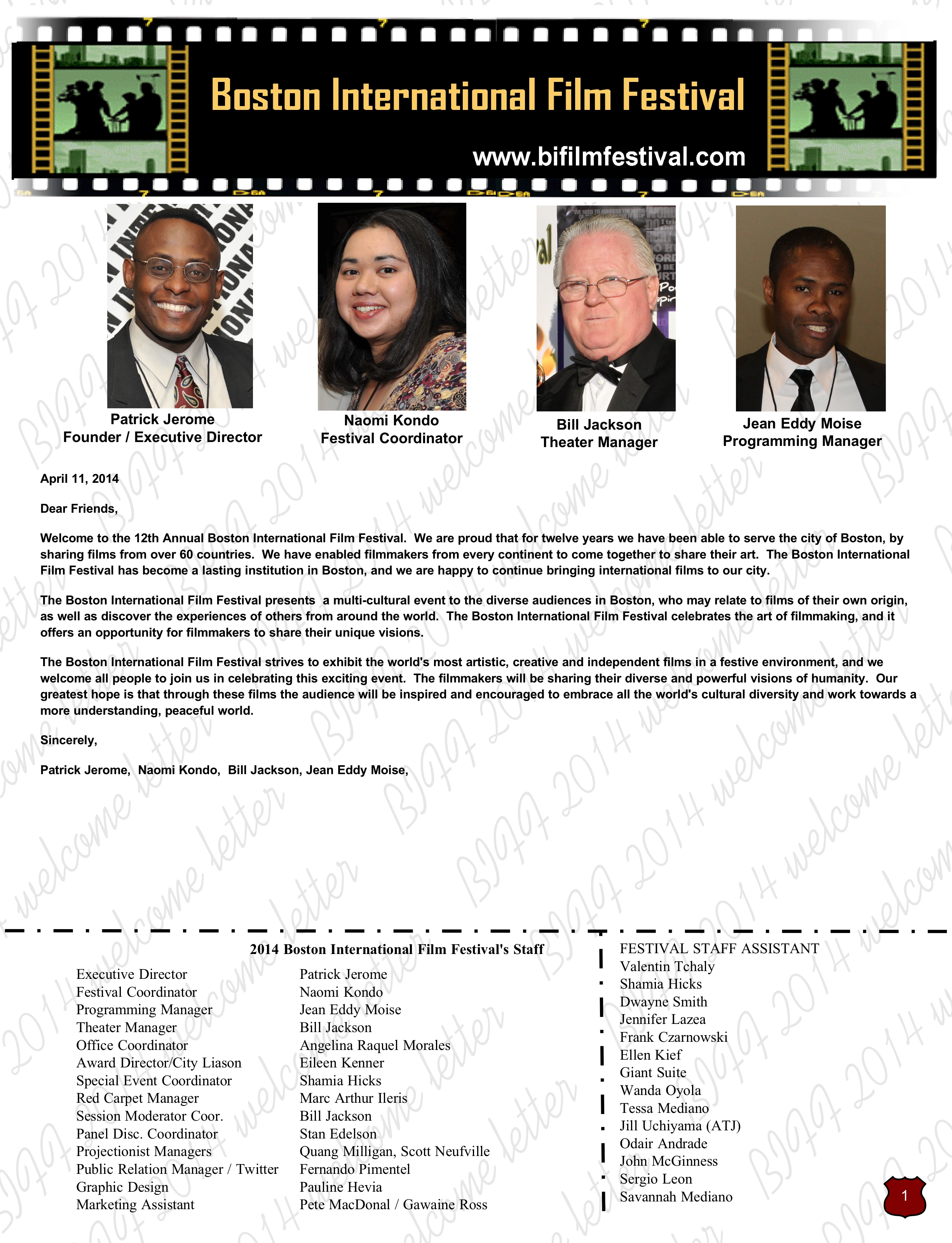 2014 BIFF welcome letter page1